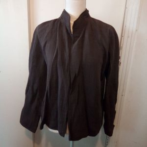 Eileen fisher brown open front jacket size S